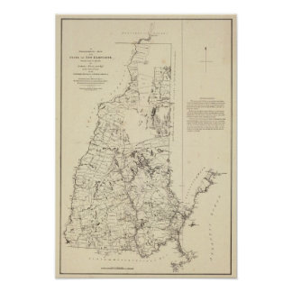 Un mapa topográfico póster