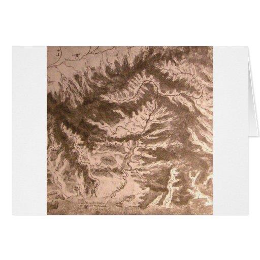 Un mapa topográfico tarjeta de felicitación