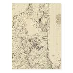 Un mapa topográfico tarjeta postal