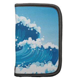 Un mar con las ondas gigantes planificadores
