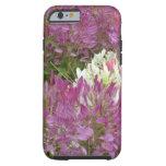 Un mar de flores púrpuras en verano de la plena funda de iPhone 6 tough