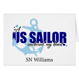 Un marinero ancló mi corazón tarjeta de felicitación