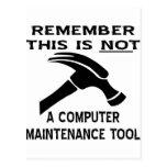 Un martillo no es una herramienta del postal