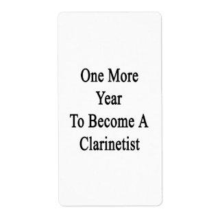 Un más año a hacer un Clarinetist Etiqueta De Envío