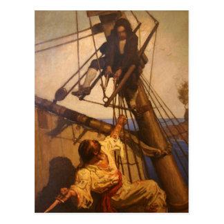 Un más Sr. Hands del paso - pintura de N.C. Wyeth Tarjeta Postal
