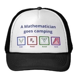 Un matemático va a acampar gorras de camionero