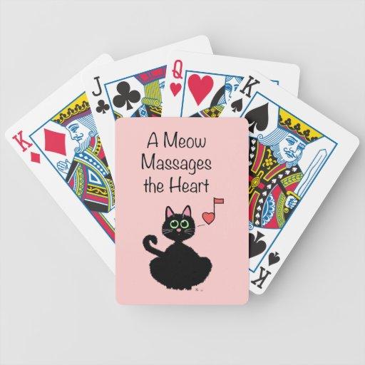 Un maullido da masajes al corazón cartas de juego