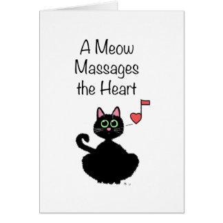 Un maullido da masajes al corazón felicitación