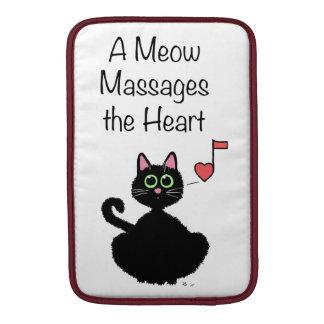 Un maullido da masajes al corazón fundas MacBook