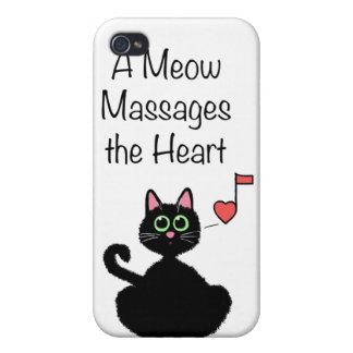 Un maullido da masajes al corazón iPhone 4/4S carcasa