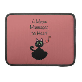 Un maullido da masajes al corazón fundas para macbook pro