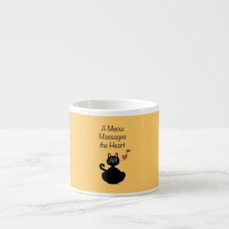 Un maullido da masajes al corazón taza espresso