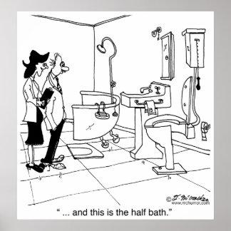 Un medio baño impresiones