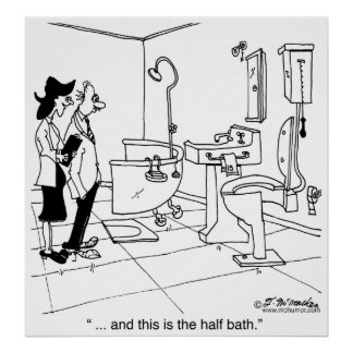 Un medio baño póster