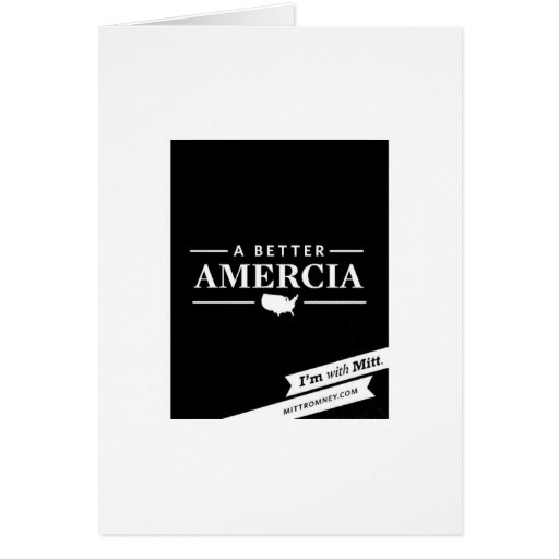 Un mejor Amercia Tarjeta De Felicitación