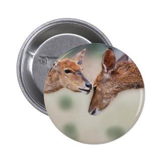 Un mejor amigo de los ciervos pin redondo 5 cm