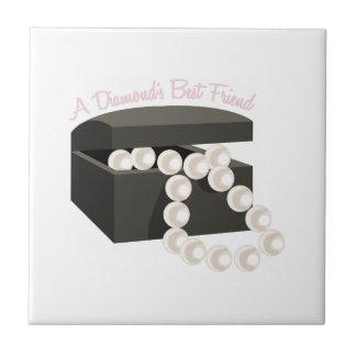 Un mejor amigo de los diamantes teja  ceramica