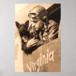 Un mejor amigo de los pilotos - Terrier y piloto d Poster