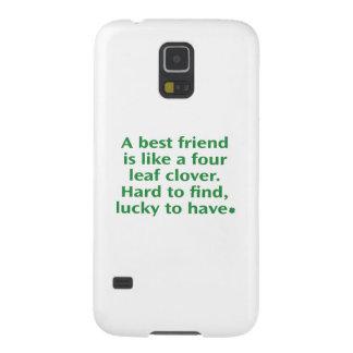 Un mejor amigo es como un trébol de cuatro hojas funda para galaxy s5