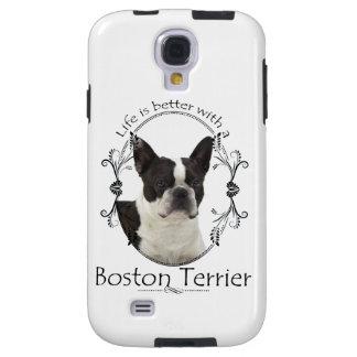 Un mejor caso de Boston Terrier Smartphone de la v Funda Para Galaxy S4