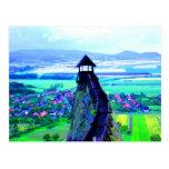 un mejor castillo derecho más alto de la visión me tarjeta postal