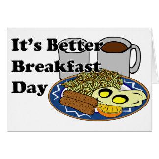 Un mejor día del desayuno tarjeta pequeña