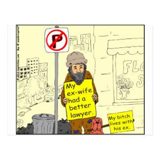 un mejor dibujo animado del abogado de la ex postal