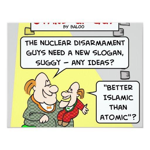 """un mejor islámico que atómico invitación 4.25"""" x 5.5"""""""