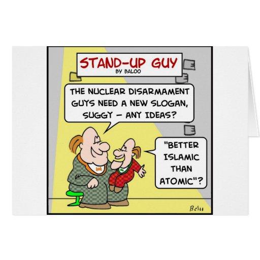 un mejor islámico que atómico tarjeta de felicitación