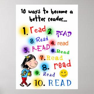 Un mejor lector póster