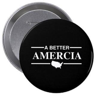 Un mejor logotipo de Amercia - .png Pin Redondo De 4 Pulgadas