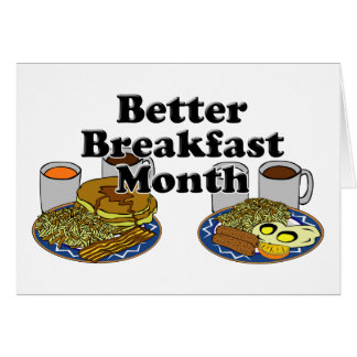 Un mejor mes del desayuno tarjeta pequeña