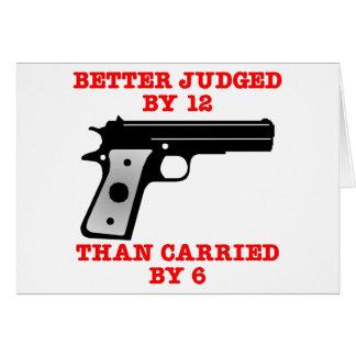 Un mejor probado del arma blanco por 12 tarjeta de felicitación