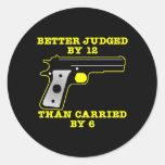 Un mejor probado del arma negro por 12 etiquetas redondas