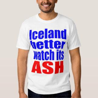 Un mejor reloj de Islandia su CENIZA Remeras