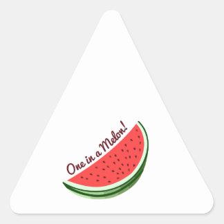 Un melón pegatinas de triangulo personalizadas