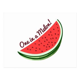 Un melón tarjetas postales