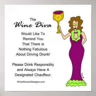 Un mensaje importante de la diva del vino póster