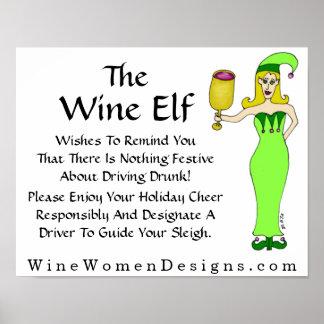 Un mensaje importante del duende del vino póster