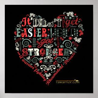 Un mensaje más fuerte del corazón póster