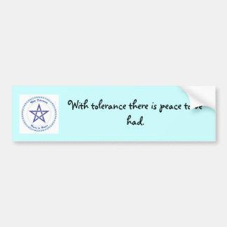 Un mensaje pacífico pegatina de parachoque