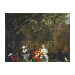 Un mercado de la hierba en Amsterdam Lienzo Envuelto Para Galerías