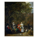 Un mercado de la hierba en Amsterdam Posters