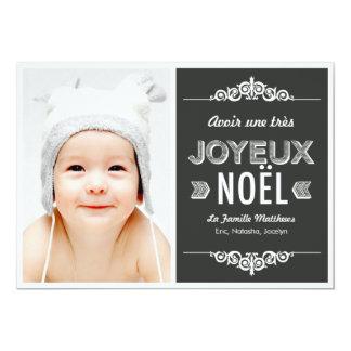 Un message de vacances cartes photos de Noël 5x7 Paper Invitation Card