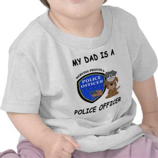 Un mi papá de la policía camisetas