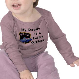 Un mi papá es oficial de policía camisetas