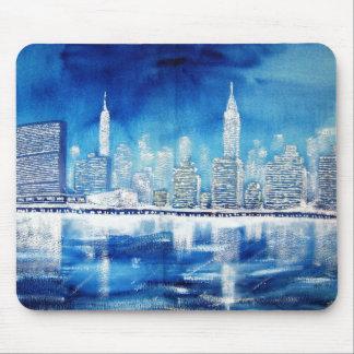 UN & Midtown East River Winter Mouse Pad