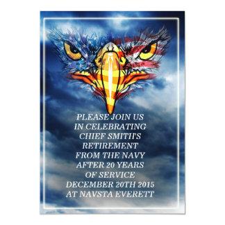 """Un militar americano de Eagle calvo Invitación 5"""" X 7"""""""