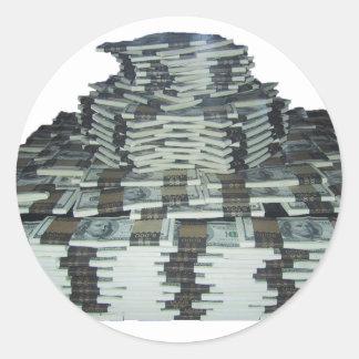 Un millón dólares pegatina redonda