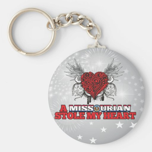 Un Missourian robó mi corazón Llavero Personalizado